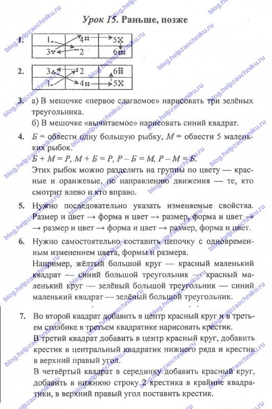ГДЗ (решебник) математика Л. Г. Петерсон 1 класс 1 часть урок 15