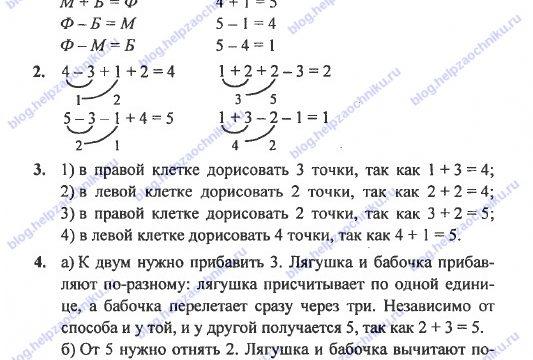 ГДЗ (решебник) математика Л. Г. Петерсон 1 класс 1 часть урок 27