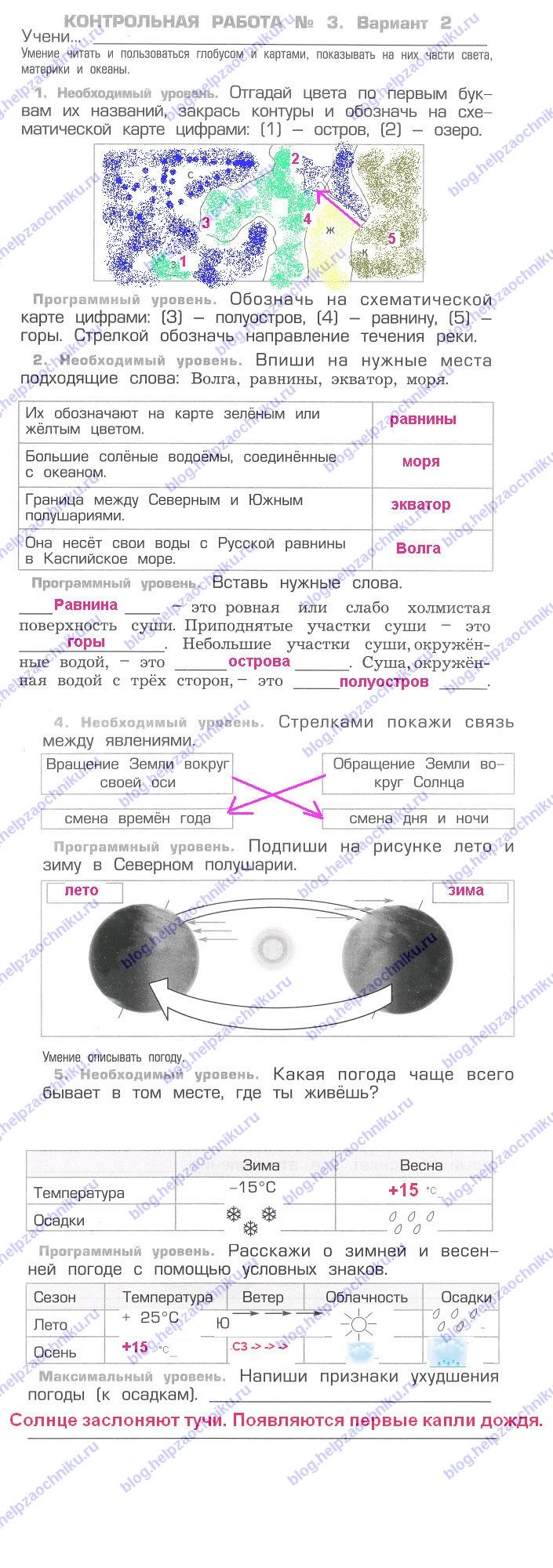 Окружающий мир 2класс рабочая тетрадь автор вахрушев гдз