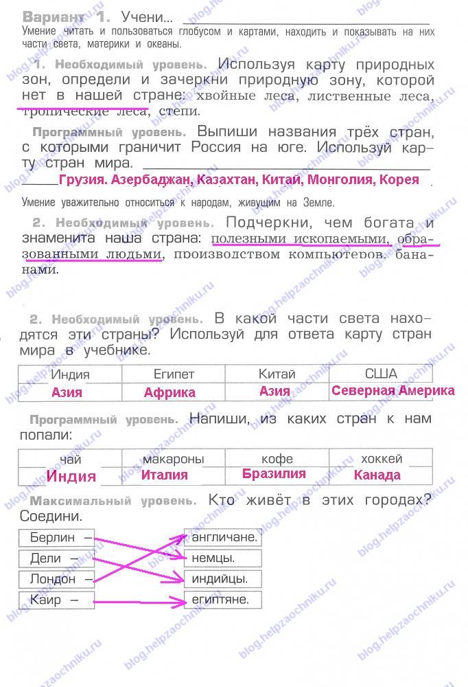 Проверочная работа №12 гдз решебник читать онлайн ответы на Вахрушев А.А. Окружающий мир 2 класс