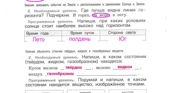 Проверочная работа №2 гдз ответы на Вахрушев А.А. Окружающий мир 2 класс