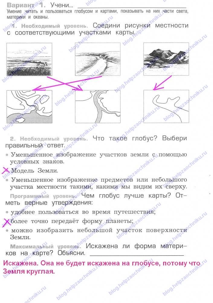 Проверочная работа №6 гдз решебник читать онлайн ответы на Вахрушев А.А. Окружающий мир 2 класс