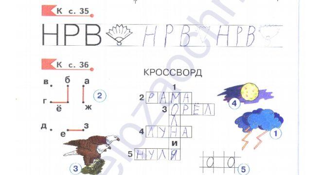 Гдз (решебник) Нечаева Н. В. Азбука рабочая тетрадь. 1 класс ответы стр.6