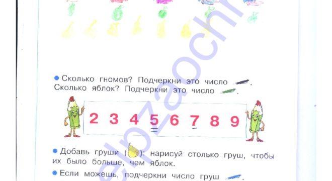 ГДЗ решебник рабочая тетрадь по математике 1 класс 1 часть. Бененсон Е.П., Истина Л. С. стр.7