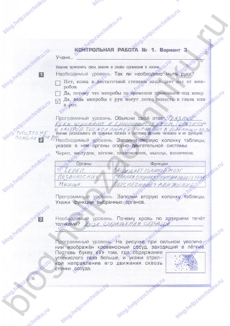 Ответы на проверочные...вахрушев бурский родыгина 3 класс моё отечество