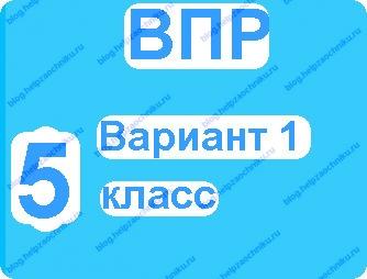 Впр по русскому языку 5 класс вариант 1 2017