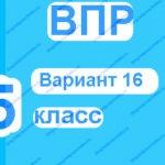 ВПР 5 класс русский язык вариант 16 с ответами онлайн тесты