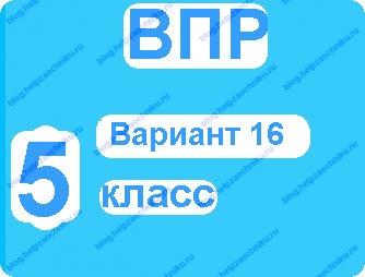 Впр по русскому языку 5 класс вариант 16 с ответами
