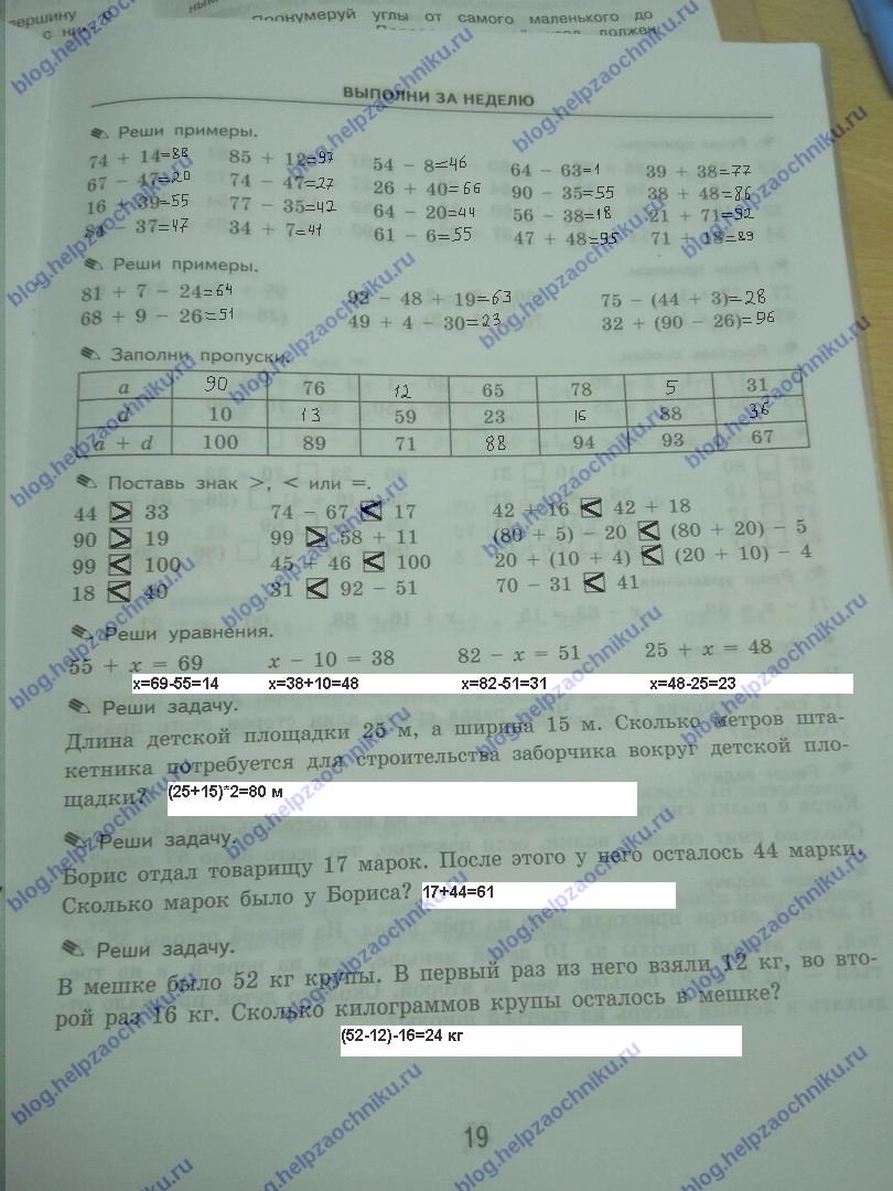 ответы гдз по тренировочные 2 кузнецова математике задачи класс