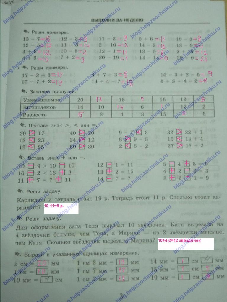 ГДЗ Математика 2 класс Кузнецова (тренировочные примеры по математике) стр.3
