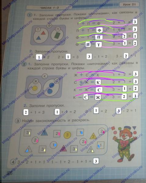 петерсон 1 класс 1 часть рабочая тетрадь ответы, гдз решебник по математике 1 класс петерсон 1 часть ответы 2017-2018 стр.36